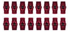 "RACERDIRECT.NET RDN S3011 265-400 SMALL BLOCK CHEVY ALUMINUM ROLLER ROCKER ARMS 3/8"" STUD MOUNT 1.5:1 RATIO RED ANODIZED"
