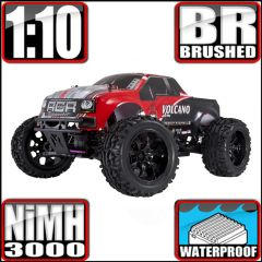 REDCAT VOLCANO EPX 1/10 SCALE BRUSHED MONSTER TRUCK RED