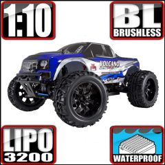 REDCAT VOLCANO EPX PRO 1/10 SCALE ELECTRIC BRUSHLESS MONSTER TRUCK BLUE