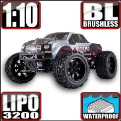 REDCAT VOLCANO EPX PRO 1/10 SCALE ELECTRIC BRUSHLESS MONSTER TRUCK SILVER