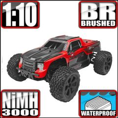 REDCAT BLACKOUT XTE 1/10 SCALE ELECTRIC MONSTER TRUCK RED