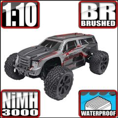 REDCAT BLACKOUT XTE 1/10 SCALE ELECTRIC MONSTER SUV SILVER/RED