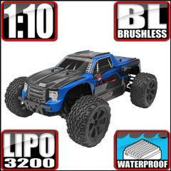 REDCAT BLACKOUT XTE PRO 1/10 SCALE BRUSHLESS ELECTRIC MONSTER TRUCK BLUE