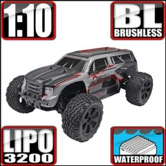 REDCAT BLACKOUT XTE PRO 1/10 SCALE BRUSHLESS ELECTRIC MONSTER TRUCK SILVER/RED SUV