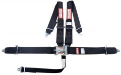 """RACERDIRECT HANS 3"""" RACING HARNESS SFI 16.1, LATCH & LINK, INDIVIDUAL ROLL BAR MOUNT, PULL UP LAP BELTS, BOLT IN"""