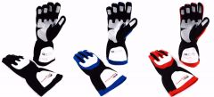 RJS RACING ELITE SFI 3.3/5 DOUBLE LAYER NOMEX FIRE RETARDANT RACING GLOVES SM TO 2XL
