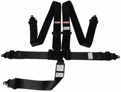 """RACERDIRECT SIGNATURE SERIES 3"""" RACING HARNESS SFI 16.1, LATCH & LINK, INDIVIDUAL FLOOR MOUNT, PULL DOWN LAP BELTS, BOLT OR WRAP, ALL BLACK HARDWARE,"""