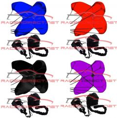 SOLID COLOR DRAG RACING PARACHUTE SPRING LOADED DRAG SAFETY CHUTE RACERDIRECT.NET