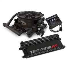 HLY-550-408 HOLLEY EFI TERMINATOR-AND-#153; EFI 4BBL THROTTLE BODY SYSTEM WITH 4L60E/4L80E TRANS CONTROL 950 CFM 200-600 HP IN HARD CORE GRAY