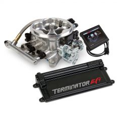 HLY-550-407 HOLLEY EFI TERMINATOR-AND-#153; EFI 4BBL THROTTLE BODY SYSTEM WITH 4L60E/4L80E TRANS CONTROL 950 CFM 200-600 HP IN POLISHED ALUMINUM