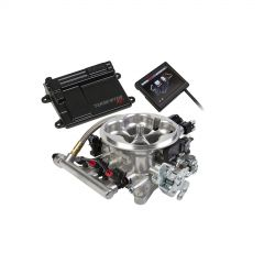 "HLY 550-409 HOLLEY EFI GM LS1/LS6 ENGINES -AND- 1999-2007 4.8/5.3/6.0 TRUCK ENGINES WITH 24X CRANK RELUCTOR AND CARBURETED INTAKE MANIFOLD NO LAPTOP REQUIRED 3.5"" TOUCHSCREEN INCLUDED"