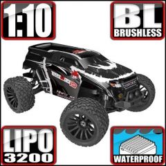 REDCAT RACING TERREMOTO 10 V2 ELECTRIC 1/10 SCALE MONSTER TRUCK RADIO CONTROLLED BLACK BRUSHLESS MOTOR AND ESC