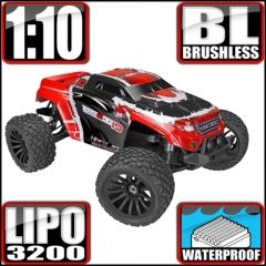 REDCAT RACING TERREMOTO 10 V2 ELECTRIC RED 1/10 SCALE MONSTER TRUCK RADIO CONTROLLED BRUSHLESS MOTOR AND ESC