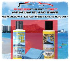 HAWAIIAN ISLAND SHINE HEADLIGHT LENS RESTORATION KIT WITH POLISH SEALANT AND FREE MICROFIBER CLOTHS