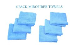 6 PACK MICROFIBER CLEANING CLOTH NO-SCRATCH RAG CAR POLISHING DETAILING TOWEL
