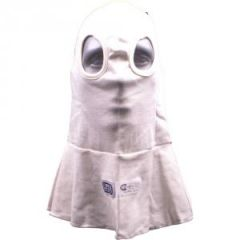 RJS SFI 3.3 FR HOOD DOUBLE LAYER EYE HOLE WHITE